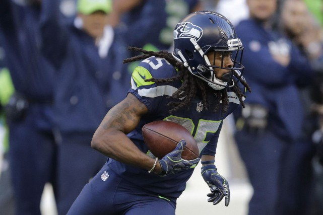 Richard Sherman... (Photo Stephen Brashear, archives AP)