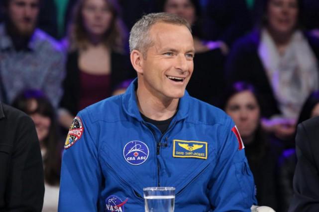 L'astronaute canadien David Saint-Jacques, sur le plateau de... (PhotoKarine Dufour, fournie par Radio-Canada)