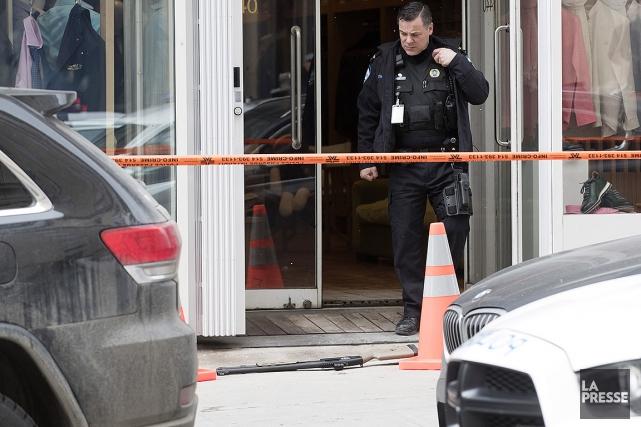 Après le crime, le suspect a pris la... (Photo Patrick Sanfaçon, La Presse)