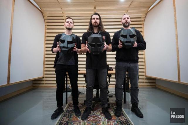 De gauche à droite:Patrick Barry, Julien Maranda et... (PHOTO PATRICK SANFAÇON, LA PRESSE)