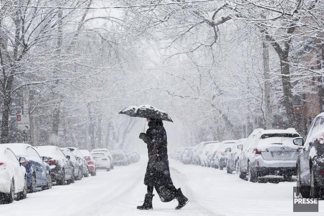 Près de 10 centimètres de neige devraient tomber... (Photo Patrick Sanfaçon, archives La Presse)