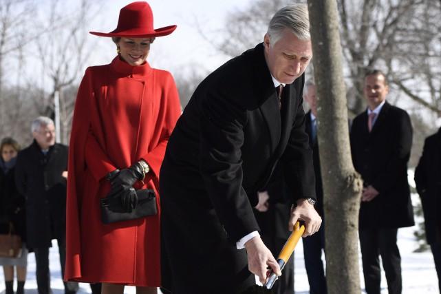 Le roi Philippe de Belgique et son épouse... (PHOTO PC)