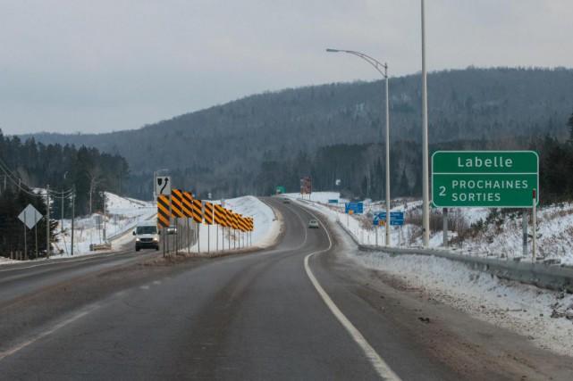 Le segment de la route 117 d'environ 65... (Photo Hugo-Sébastien Aubert, La Presse)