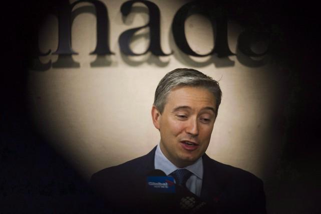 Francois-Philippe Champagne,ministre du Commerce international.... (Photo Christopher Katsarov, La Presse canadienne)