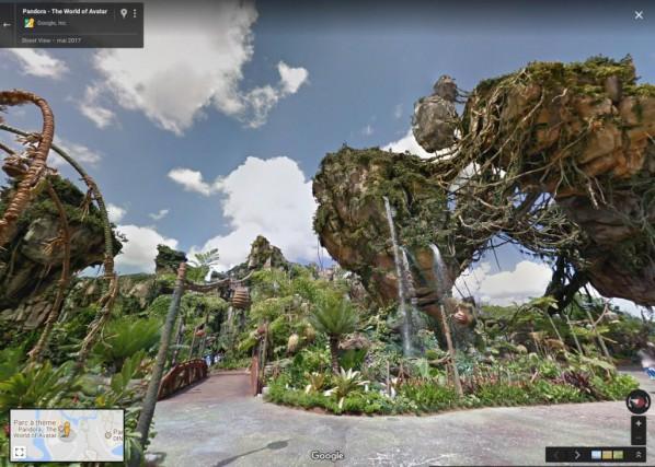 Il est désormais possible de visiter les parcs... (CAPTURE D'ÉCRAN DU SITE GOOGLE MAPS)
