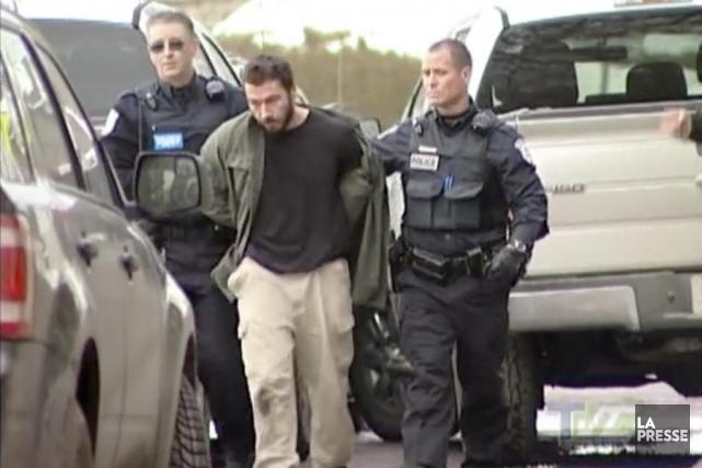 Philippe Steele-Morin lors de son arrestation, en mars... (COURTOISIE, TVC Basse-Lièvre)