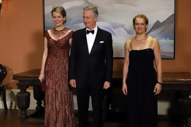 Le roi et la reine des Belges ont... (Photo Fred Chartrand, La Presse canadienne)