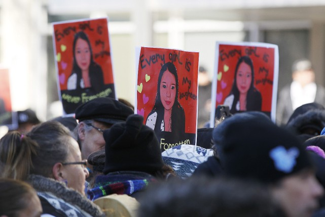 Le 23 février dernier, une manifestation avait eu... (Photo John Woods, La Presse canadienne)