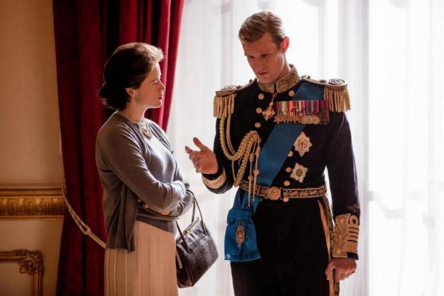 Claire Foy et Matt Smith dans The Crown.... (PHOTO FOURNIE PAR NETFLIX)