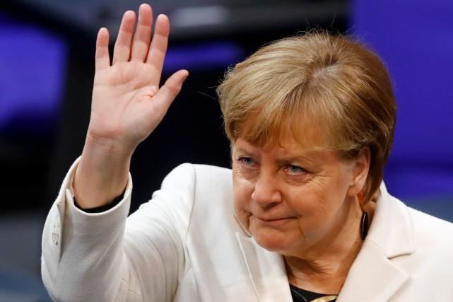 Angela Merkel... (REUTERS)