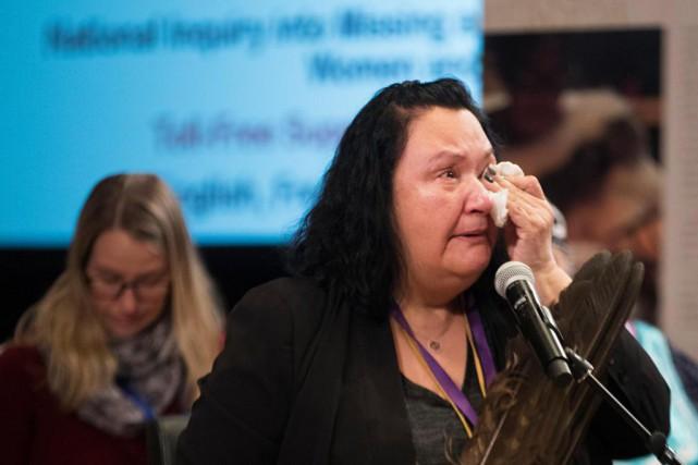 Avec beaucoup d'émotion, Françoise Ruperthouse est venue témoigner... (Photo Ivanoh Demers, La Presse)