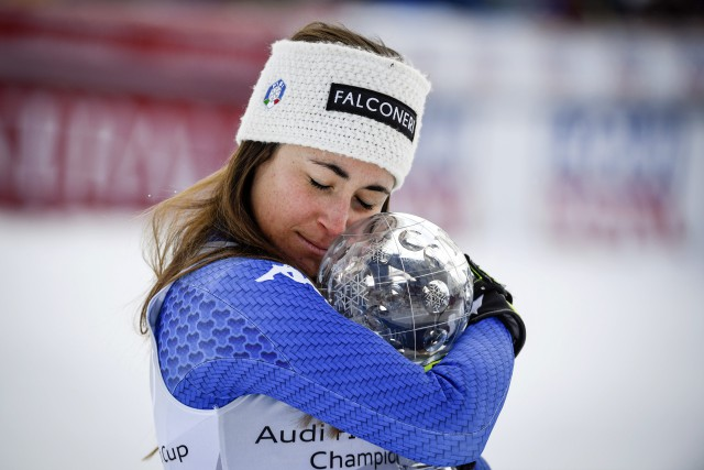 Sofia Goggia... (Photo Anders Wiklund, AP)