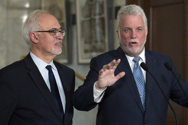 Le ministre des Finances, Carlos Leitão, et le... (Jacques Boissinot, PC)