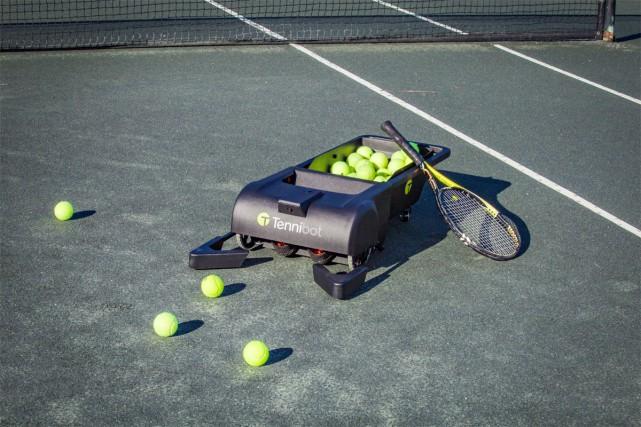 Le robot ramasseur de balles Tennibot peut contenir... (Photo fournie par Tennibot)