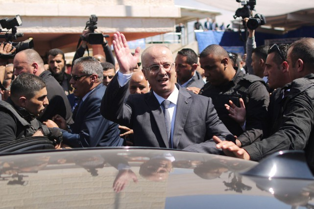 Le premier ministre de l'Autorité palestinienne Rami Hamdallah.... (Photo Mahmud Hams, Agence France-Presse)
