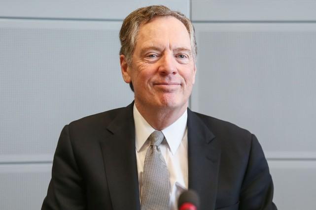 Le représentant américain au commerce, Robert Lighthizer... (PHOTO STEPHANIE LECOCQ, AFP)