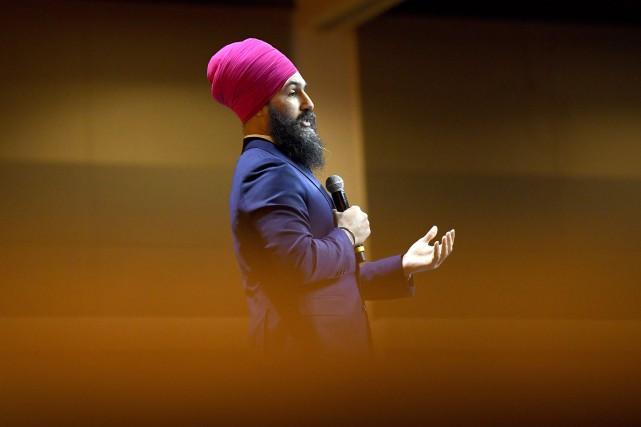Jagmeet Singhse décrit comme «un défenseur de la... (Photo Justin Tang, La Presse canadienne)
