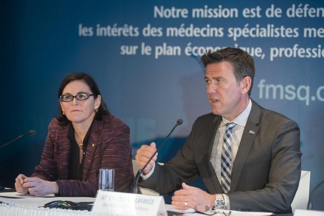 La présidente de la Fédération des médecins spécialistes,... (Photo Catherine Lefebvre, collaboration spéciale)