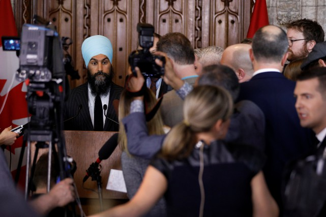 Jagmeet Singh accepte les conclusions de l'enquête canadienne sur... (Photo Blair Gable, REUTERS)
