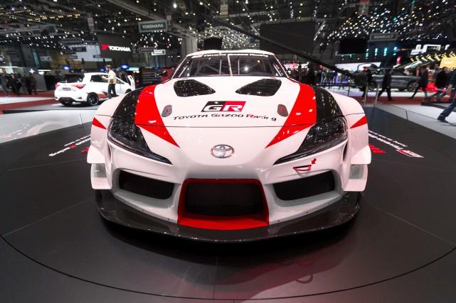 Quand Toyota a présenté le prototype GR Supra... (photo AP)