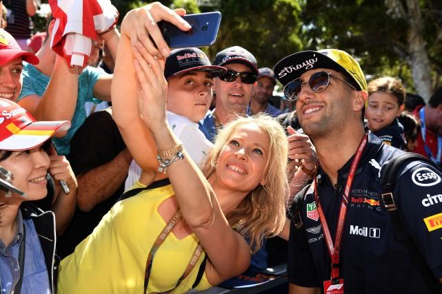 L'Australien Daniel Ricciardo --le favori local au GP... (photo AFP)