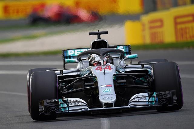 Lewis Hamiltontotalise dorénavant 73poles en carrière.... (PHOTO SAEED KHAN, AGENCE FRANCE-PRESSE)