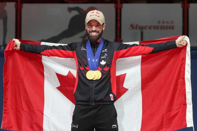 Charles Hamelin est devenu champion du monde de... (PHOTO ROBERT SKINNER, LA PRESSE)