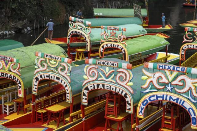 Les canaux de Xochimilco sont célèbres pour leurs... (Photo Thinkstock)