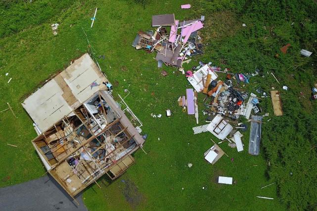 L'ouragan Maria a gravement endommagé ou détruit plus... (PHOTO AFP)