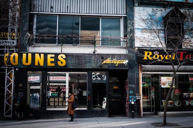 Le bar Foufounes électriques, à Montréal, convoqué devant... (PHOTO OLIVIER JEAN, LA PRESSE)