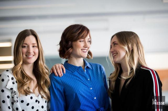 Chloé, Maxime et Justine Dufour-Lapointe... (Photo Marco Campanozzi, La Presse)