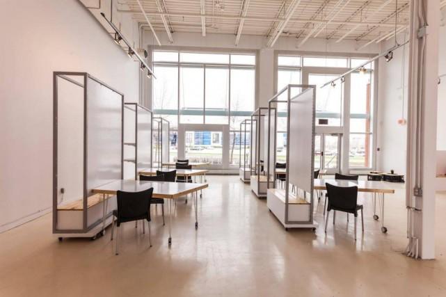 Un espace éphémère a été aménagé au Centropolispour... (Photo fournie par Tourisme Laval)