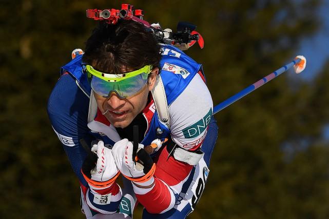 Ole Einar Bjoerndalen, photographié en février 2017.... (FRANCK FIFE, ARCHIVES AFP)