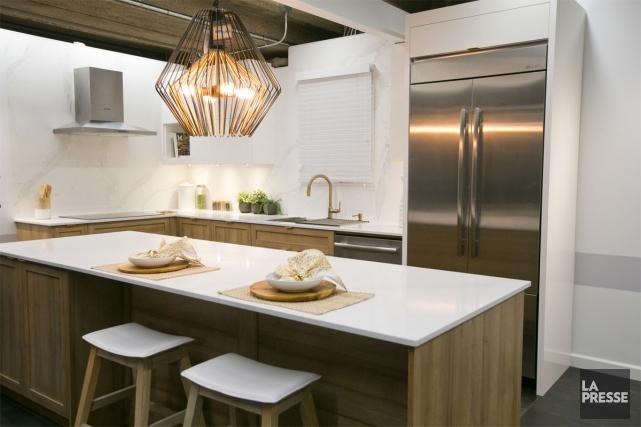 Pour la cuisine qu'une cliente désirait fonctionnelle, lumineuse... (Photo François Roy, La Presse)
