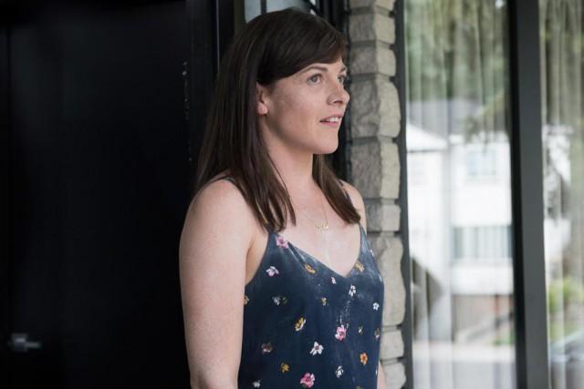 Sophie Cadieux dans Lâcher prise... (Photo fournie par ICI Radio-Canada)