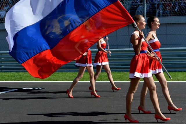 Les grid girls sont en train de devenir... (Agence RIA Novosti)