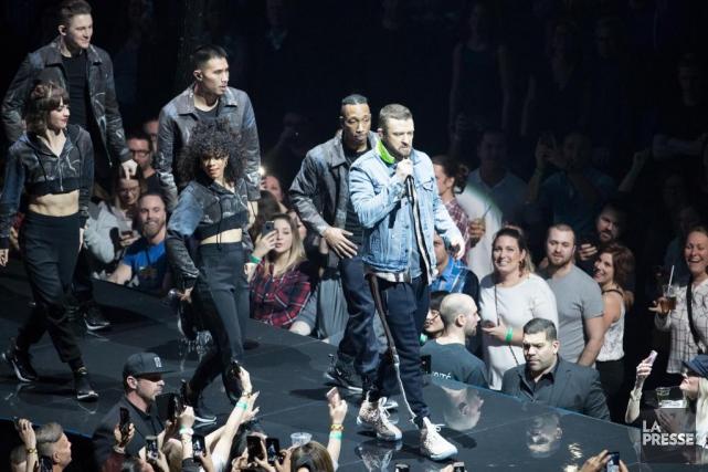 Justin Timberlake en concert au Centre Bell.... (PHOTO OLIVIER JEAN, LA PRESSE)
