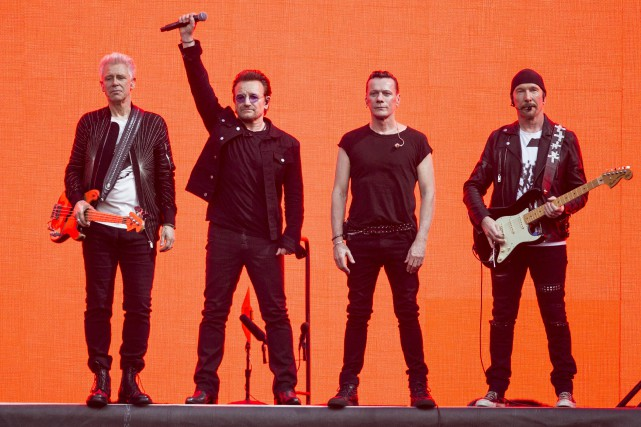 U2 est attendu les 5 et 6 juin,... (Photo Joel Ryan, archives Associated Press)