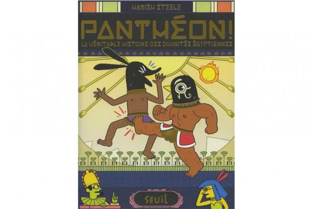 Panthéon!-La véritable histoire des divinités égyptiennes,deHamish Steele... (image fournie par le Seuil)