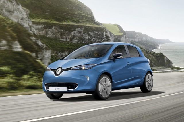 La Renault Zoé est la tout électrique la... (Photo Renault)