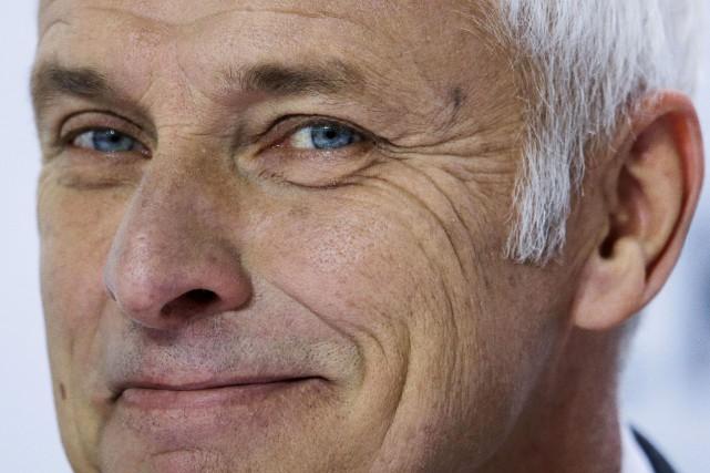 Le grand patron du Groupe Volkswagen AG semble... (photo AP)