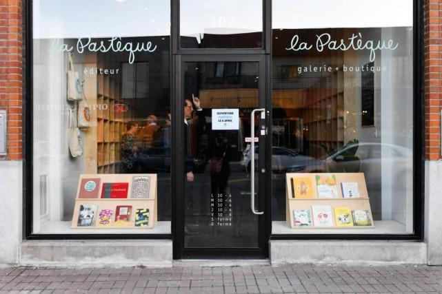 La galerie-boutique La Pastèque est située au 102,... (PHOTO BERNARD BRAULT, LA PRESSE)