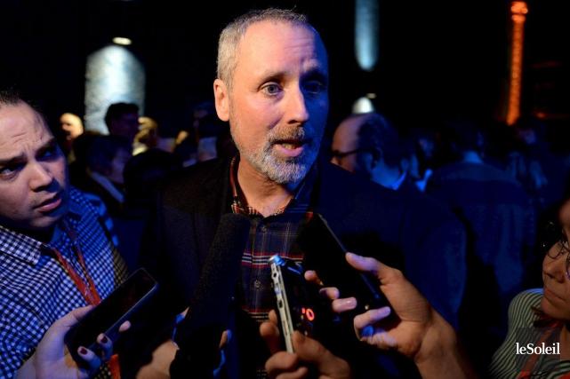 Le candidat à l'investiture de Québec solidaire dans... (PHOTO ERICK LABBÉ, LE SOLEIL)