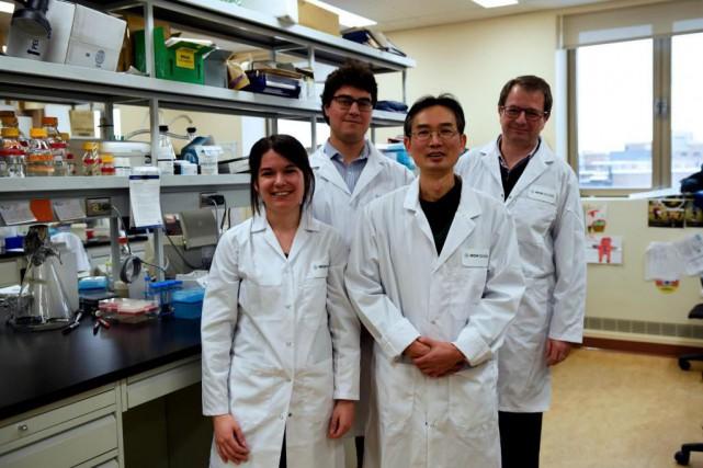 Les chercheurs Jennifer Fraszczak, Charles Vadnais, Riyan Chen... (Photo fournie par les chercheurs)