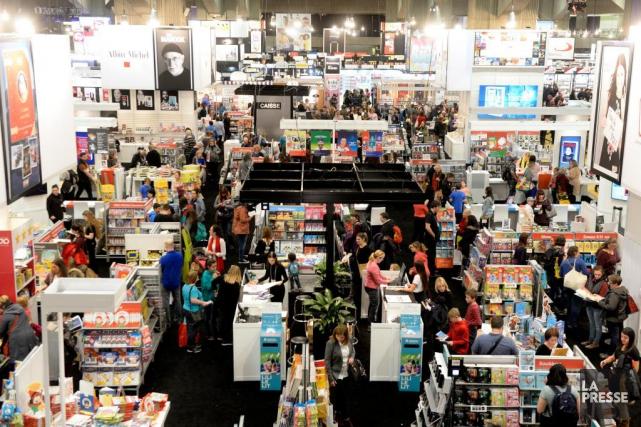 Le 41e Salon du livre de Montréal, qui... (PHOTO BERNARD BRAULT, LA PRESSE)