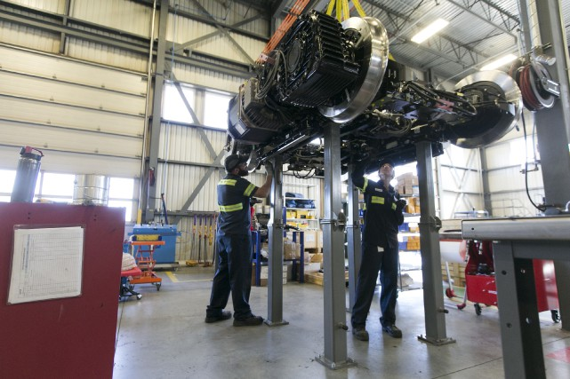 Comme l'usine de Bombardier Transport à La Pocatière,... (La Presse photo FRANCOIS ROY / L)