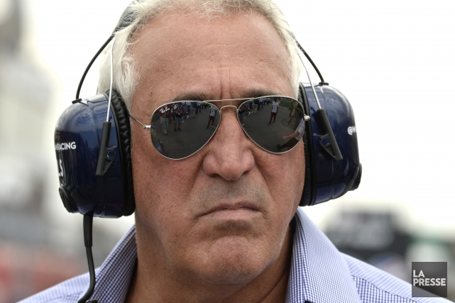Lawrence Stroll attend Paddy Lowe au virage.... (photo d'archives, Bernard Brault, La Presse)