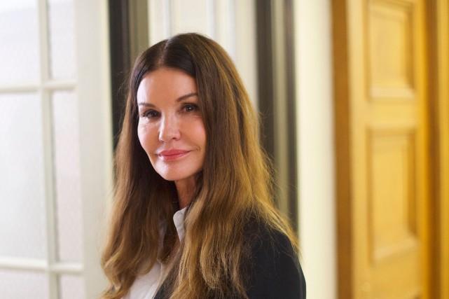 L'ancienne mannequin Janice Dickinson, témoin vedette du procès... (PHOTO AFP)