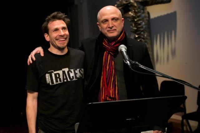 Patrick Léonard (à gauche), directeur artistique, et Nassib... (Photo David Boily, Archives La Presse)