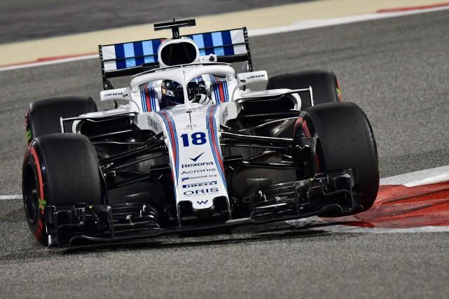 La Williams FW41 est instable dans les courbes... (photo AFP)
